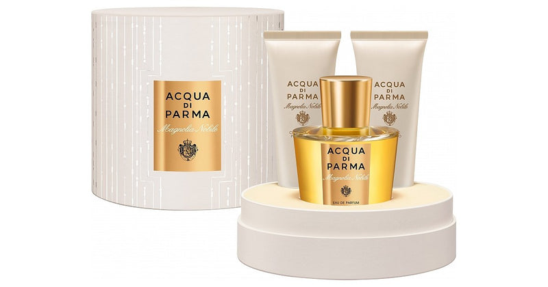 ACQUA DI PARMA - Acqua Di Parma Magnolia Nobile para mujer / SET - 100 ml Eau De Parfum Spray + 75 ml Gel de baño + 75 ml Crema corporal