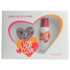 AGATHA RUÍZ DE LA PRADA - Love Love Love para mujer / SET - 80 ml Eau De Toilette Spray + 150 ml Deodorant Spray