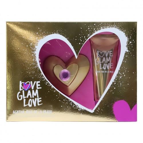 AGATHA RUÍZ DE LA PRADA - Love Glam Love para mujer / SET - 80 ml Eau De Toilette Spray + 1 Regalo