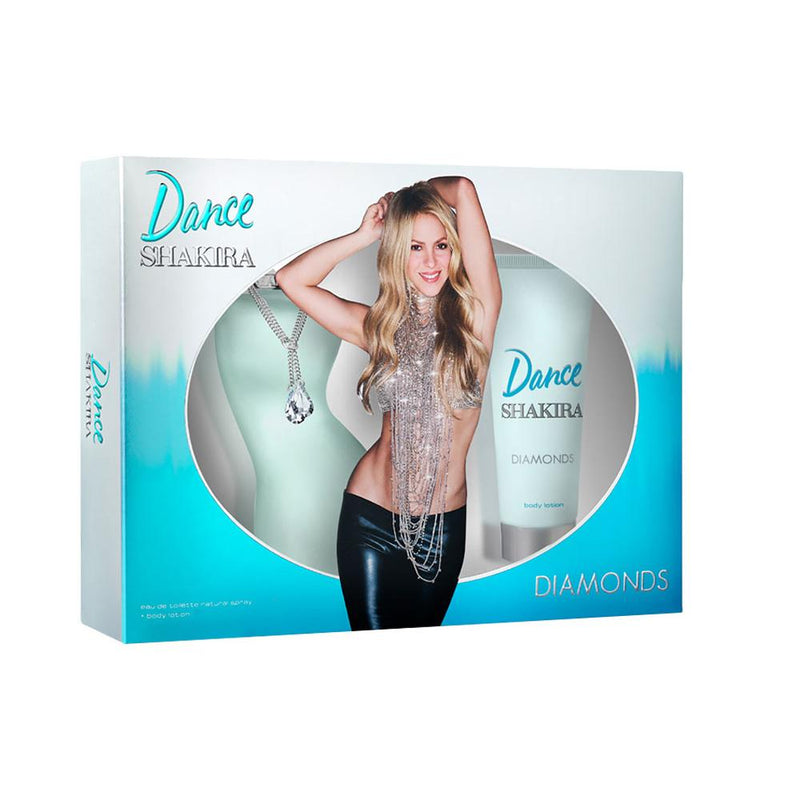 SHAKIRA - Shakira Dance Diamonds para mujer / SET - 80 ml Eau De Toilette Spray + 75 ml Body Lotion