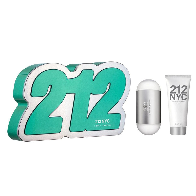 CAROLINA HERRERA - 212 NYC para mujer / SET - 100 ml Eau De Toilette Spray + 100 ml Body Lotion