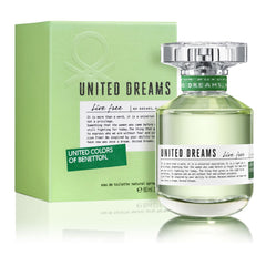 BENETTON - United Dreams Live Free para mujer / 80 ml Eau De Toilette Spray