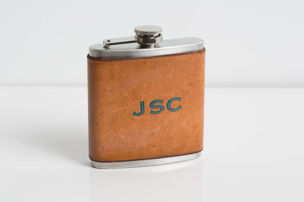 Whiskey Leather Flask - Personalized