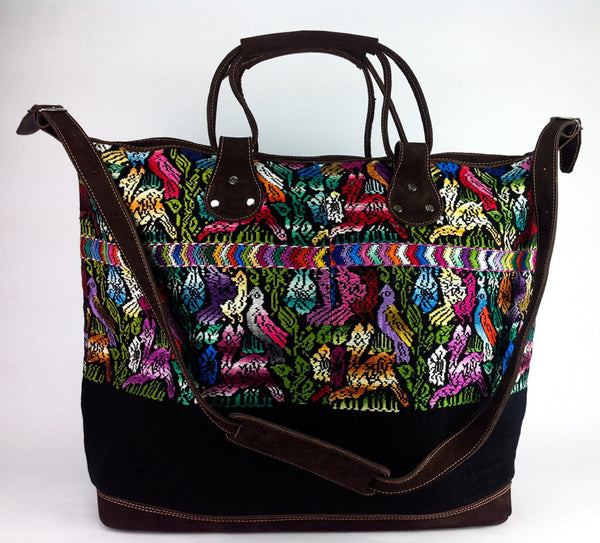 Birds of a Feather Huipil Weekender Bag