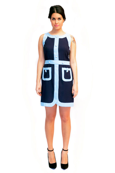 The Blue on Blue Mila Contrast Dress