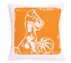 Bruiser the Pup Cushion - Orange, 10""
