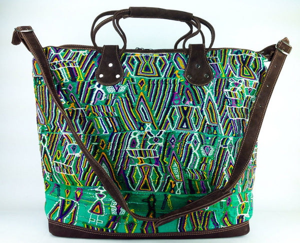 Green Dream Huipil Weekender Bag