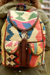 Double Pocket Rangin Kilim Backpack