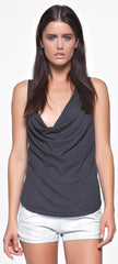 The Royal Super Soft Rib Draped Cowl Tank in Musk