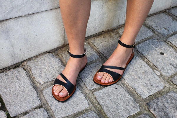 Tip Toe and Ankle Leather Sandals