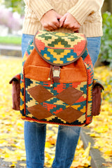 Side Pocket Rangin Kilim Backpack