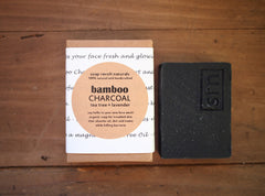 Bamboo Charcoal Face Wash Soap with Tea Tree and Lavender