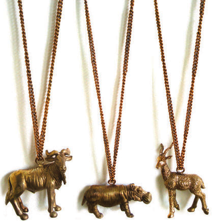 Handmade Mountain Animal Vintage Chain Pendants