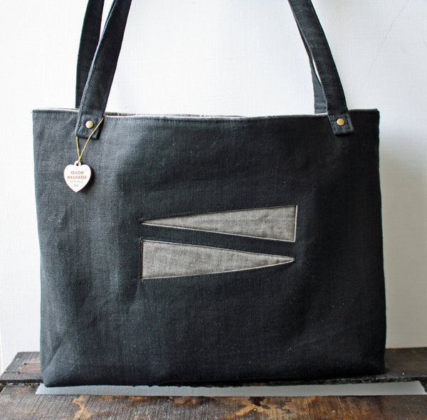 Soft Lightweight Black Canvas Tote