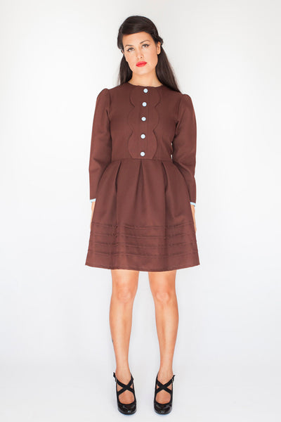 The Lulu Dress in Chocolate