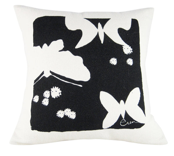 Black Butterflies Cushion