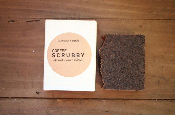 Natural Loofah & Pumice Coffee Scrubby Soap