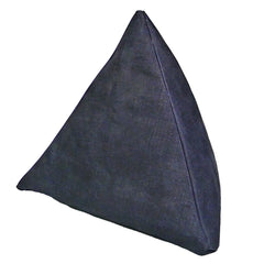 Denim Coffee Bean-Filled Pyramid Cushion