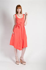 Liberty Dress in Tangerine