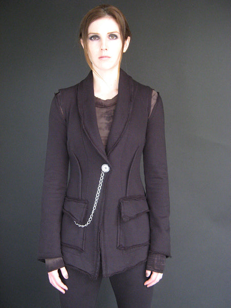 Eco-Conscious Elin Blazer in Black