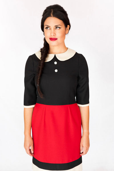 Popeye Olivia Dress in Red and Black