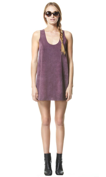 Purple Rain Suede Dress