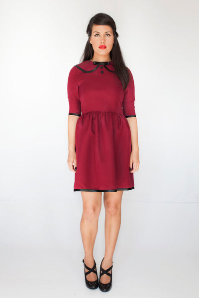 The Cecile Dress in Aubergine