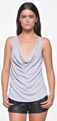 The Royal Super Soft Rib Draped Cowl Tank in Lavender