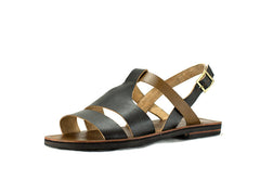 Black and Brown Full Strap Sandals (UNISEX)