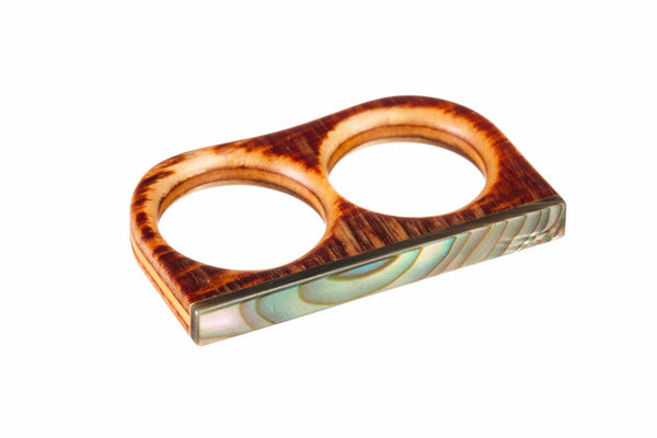 Abalone Slim Duel Ring