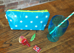 Stars Makeup or Pencil Case in Blue