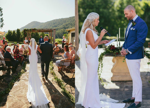 Bajan Wedding, Tess & Neil's Orara Valley Estate Wedding, Daisy Veil by Camilla Christine