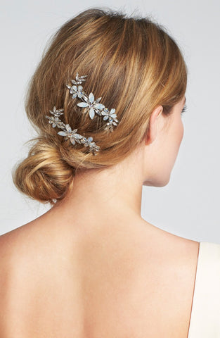 Brides.com, 7 Stunning Holiday-Inspired Hair Combs Perfect for Winter Weddings, Featuring Camilla Christine Scarlett Comb found at Nordstorm