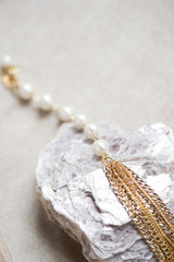 Kai Bracelet- Gold/ Ivory by Camilla Christine Bridal Accessories & Wedding Fashion Jewelry