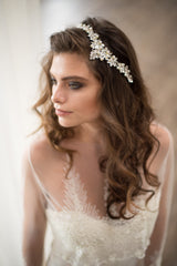 Nixon Headpiece, Rosemary Coverup, Camilla Christine Bridal