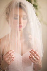 Blush Blusher Veil by Camilla Christine, as seen on Instagram