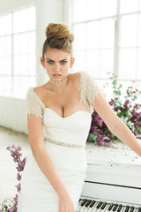 Aria Pearl and Crystal Bridal Bolero by Camilla Christine