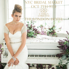 New York October 2017 Bridal Market with Camilla Christine Bridal Accessories & Bridal Jewelry at the London Hotel