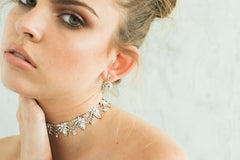 Asha Choker Necklace- Silver, by Camilla Christine Bridal Fashion Accessories and Wedding Evening Jewelry