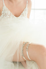 Summer Garter Set- Blush by Camilla Christine Bridal Accessories & Wedding Fashion Jewelry