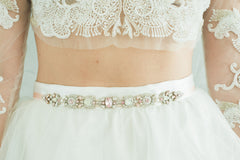 Bea Sash- Blush, Camilla Christine Bridal Jewelry & Wedding Accessories