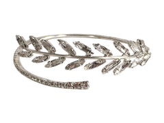 Lavinia Crystal Vine Arm Cuff Bracelet- Silver, Camilla Christine Bridal Accessories & Wedding Jewelry