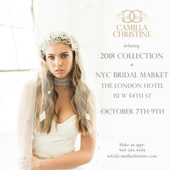 New York Bridal Market October 2017 Designer Camilla Christine at the London Hotel