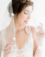 Garden Veil from Camilla Christine Bridal Accessories & Wedding Fashion Jewelry as seen on Style me Pretty