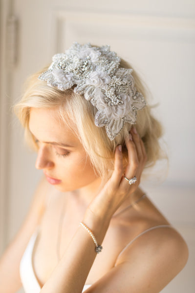 HARLOW HEADPIECE- OFF WHITE