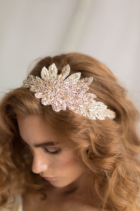 CORA HEADPIECE- GOLD