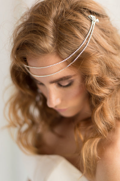 MADISON HEADPIECE- SILVER