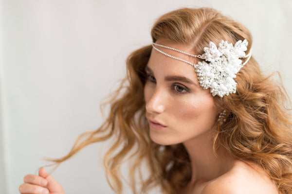 ANNA HEADPIECE- OFF WHITE