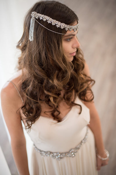 DAVINIA HEADPIECE - SILVER