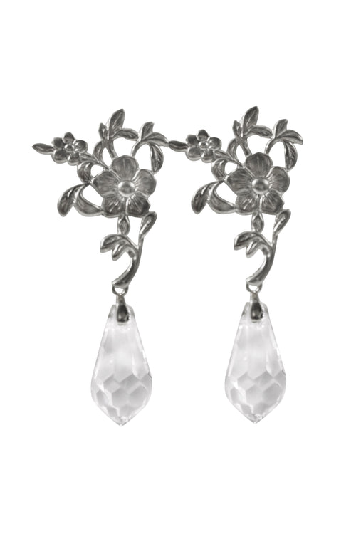 GRETEL CRYSTAL EARRINGS - SILVER